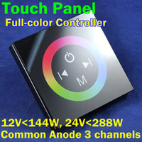 12V rgb led panel - NEW DC12V W V W Channels A Channel Common Anode Touch Panel Wall RGB LED Controller