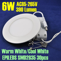 85-265V acrylic power lighted - AC85 V W LM Warm Cool White Selective acrylic Round Mini LED Panel Light with Power adapter