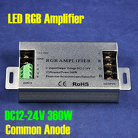 Wholesale DC12V V CMOS Drain open Output Common Anode W Power A Channel Aluminum RGB LED Amplifier