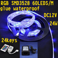 Wholesale Christmas lights keys color IR remote controller supply power m roll leds SMD3528 strip lights s free shippping