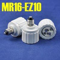 adapter mr16 - 10pcs EZ10 to MR16 Adapter EZ10 Turn MR16 Lamp Base Converter Retail