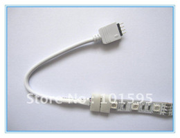 Wholesale LED Strip Connector with Cable For RGB Color mm pin No Need Soldering