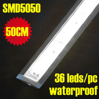 Wholesale 20pcs Leds CM pc White Color Waterproof Aluminum Slot Rigid Led Strip Bar Light SMD