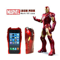 Wholesale 86hero D IRON MAN Hard Case Cover for iPhone G Red COOL in part Plastic Back Shell Protector Original with retail packing DHL
