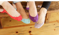 ladies socks - Hot selling antislip lady socks Ankle socks boat socks Bamboo fiber lady floor socks Candy color socks