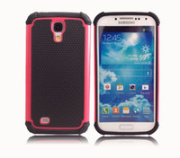 Wholesale NEW Football Grain Matte Hybrid Rugged Armor Two Parts Silicone PC Case Cover For Samsung Galaxy S4 i9500 Cases SIV S4C07