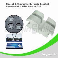 Yes Yes  Free shipping Dental Orthodontic MBT Ceramic Bracket Brace 3 with Hook 0.022
