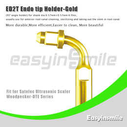 Wholesale easyinsmile ED2T Ultrasonic Scaler Endo File Holder Gold Tip Degree chuck compatible with Satelec Woodpecker DTE