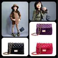 Wholesale Hottt sell Quilted Lining link chain children s purses sling bag girls children totes handbags shoulder bag