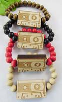 Unisex Wood Beaded, Strands Good Wood Vintage Radio Bracelet hip hop jewelry wooden Beaded Best gift C0460
