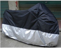 Wholesale Motorcycle Cover With Size S XXXXL Retail Waterproof UV Protection black Silver motorcycle covering