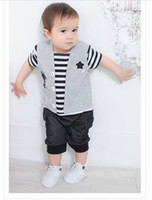 Zebra Halloween Boy New Style Baby Boy Jumpsuits Stripe Waistcoat Personalized Cool Boys Rompers Comfortable Short Sleeves Baby Boys Clothes 100% Cotton 32235