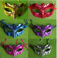 Wholesale Unisex Half Face PVC Material Venetian Mask for Party Masquerade Decoration