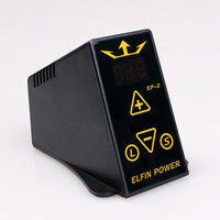 Wholesale ELFIN Mini Professional Dual Digital LCD Tattoo Power Supply kit for tattoo machine arrive within days P063