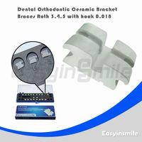 Yes Yes  Free shipping Dental Orthodontic Roth Ceramic Bracket Brace 3,4,5 with Hook 0.018