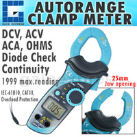 Wholesale E04 mm Jaw Digital Clamp Meter Autorange DCV ACV ACA OHMS Resistance Diode Continuity