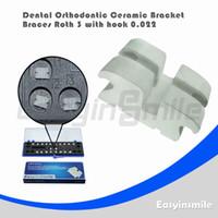 Cheap Free shipping US Stocked Dental Orthodontic braces Roth Ceramic Bracket Brace 3 with Hook 0.022