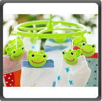 Wholesale Cute ClothesPin Airer Clothes Peg Dryer Rack Clip Frog Clothes Pins