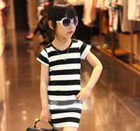 Summer short sleeve dress - Girls Cute Stripe Dresses Kids Summer Dress Short Sleeve Dresses Child Clothes Fashion Princess Dress Children Clothing Wear Casual Dresses