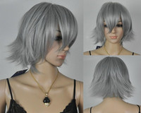 Medium   Free Shipping Cheap Short Inu x Boku SS-Miketsukami Soushi Gray Cosplay Anime Wig 10pcs lot mix order