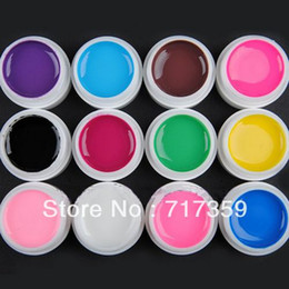 Wholesale Hot sale Set Color Pure Glitter UV GEL Nail Art Tips UV Builder Gel Set