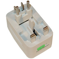 Wholesale High quality All in One Universal EU AU UK US Travel Power Plug Adapter Adaptor International support drop shipped