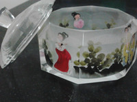 Wholesale Chinese wind glass hand painted level jewelry box
