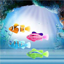 Wholesale - Robo Fish Magical Turbot Fish Christmas Magic Toys Gifts for chrildren 4pcs lot Can swim in the water