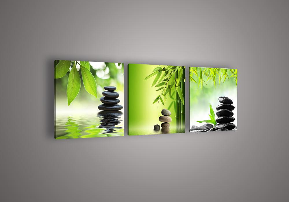 2017 Wall Art Picture Botanical Feng Shui Green Picture Oil
