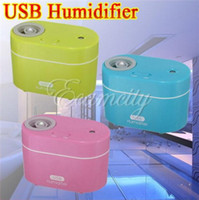 Wholesale USB Ultrasonic Steam Diffuser Mist Air Humidifier Purifier for Home Office Car USB Humidifier