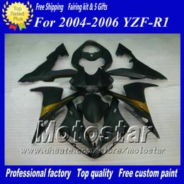 Road racing fairing kit for YAMAHA 2004 2005 2006 YZF-R1 04 05 06 YZFR1 04 05 06 YZF R1 YZFR1000 flat black Fairings