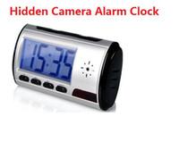 Wholesale NEW Spy Alarm DVR mini Hidden Clock Camera Camcorder Remote Motion Clock