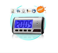 Wholesale Hot sale Spy Hidden Camera Alarm Clock Remote ControL Motion Detection FPS DVR
