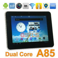 Wholesale Tablet PC Ampe A85 quot Capacitive Screen Android RK3066 Dual Core Ghz GB RAM GB ROM WiFi HDMI OTG Dual Camera
