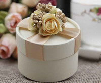 Champagne Wedding gift - Instock Circle Champagne Wedding Box Wedding Candy Boxes Favor Gift Hot Sale Candy Boxes