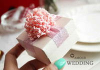 Square Pink Paper Free Shipping 50Pcs Lot Pink coral Color Wedding Favor Boxes Pink Lavender Gift Box