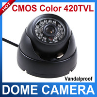 Wholesale CMOS TVL Color mm lens LED IR Night Vision Vandal proof Dome CCTV Camera