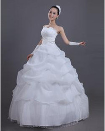 Wholesale Suzhou Bride Wedding Dresses Beatiful lace up White Bridal Sleeveless Elegant Sweet Princess Wrapped Chest Ball Gown Wedding Dresses W