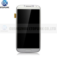 Wholesale For Samsung i337 i9500 i9505 I545 Galaxy S4 LCD with Touch Screen Digitizer Frame white black color