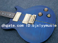 Wholesale Newest Custom shop TH ANNIVERSARY SANTANA Electric Guitar in blue Top Musical instruments High Quality