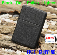 Wholesale Metal Windproof Cigarette Lighters Black Dull Polish Kerosene Oil Lighter Gift Classical Vintage Mat Lighter