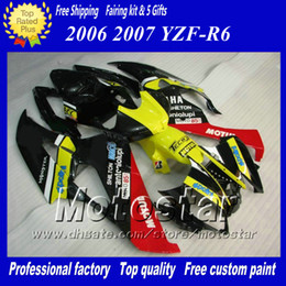 7 Gifts racing fairing kit for YAMAHA 2006 2007 YZF-R6 06 07 YZFR6 06 07 YZF R6 YZFR600 mix color custom Fairings set