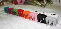 Cheap 200pcs lot 1A wall charger US home charger adapter for iphone 5 ipad 4 mini ipad DHL free