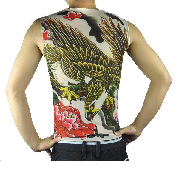 Wholesale tattoo t shirts apparel short sleeve vest for Tattoo t shirts wholesale