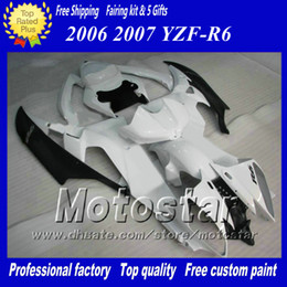Racing fairing kit for YAMAHA 2006 2007 YZF-R6 06 07 YZFR6 06 07 YZF R6 YZFR600 white black custom Fairings set ab60