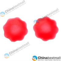 Women Silicone  Silicone Nipple Cover Bra Pad Skin Adhesive Reusable-Red