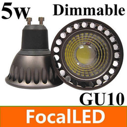 50pes lot dimmable GU10 COB LED Spotlight Bulbs 5W 60 Degree CE & RoHS pure white 5500k 3 Years Warranty