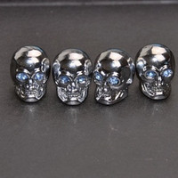 Wholesale New High Quality Aluminum Alloy Skull Style Wheel Covers Car Tire Valve Caps Colors