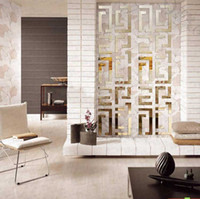 Removable acryl art - Home decoration simple D acryl wall sticker house decorative luster sticker wall paster mirror plane gold silver