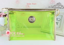 Wholesale 2013 new high quality transparent candy cute waterproof cosmetic bag toiletry kits